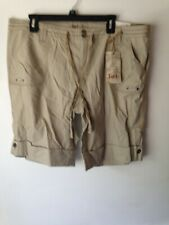 L.E.I. Tan CUFFED SHORTS  with button pockets SIZE 18R