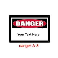 Metal Tin Sign Custom Made Own Text Personalize Plate Warning Caution Danger Art