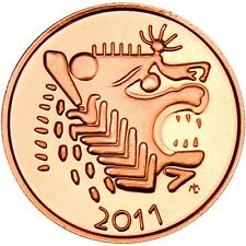 2011 Lydian Mint Lion 1 oz .999 Copper BU Round Bullion Proof-Like Coin - RARE!