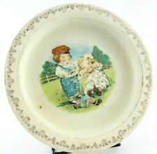 D.E. McNicol and Buffalo Pottery Campbell Soup Kids Bowl Broken Doll