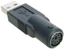 USB Adapter für Maus oder Tastatur A Stecker auf PS/2 Buchse schwarz