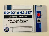 Star Wars ANA JET R2-D2 Boarding Certificate