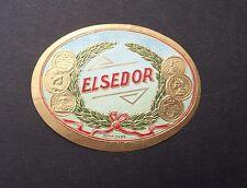 Ancienne étiquette BOITE DE CIGARE ELSEDOR old box cigar label