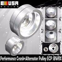 Crank Pulley for 02-05 Subaru Impreza WRX Sedan  Aluminum Performance BLACK