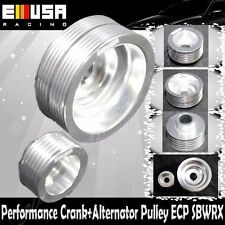 EMUSA Aluminum Performance SILVER Crank Pulley Kit for 02-05 Subaru Impreza 2.0T