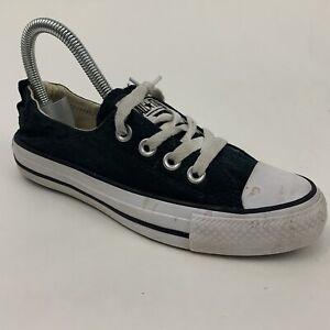 Converse 537081F Womens Sz 5 All Star Chuck Taylor Shoreline Shoes Black White