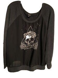 torrid sweater size 1 skull