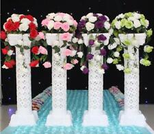 4pc. LED Luminous White Wedding Column Carved Pillar Column Flower Stand