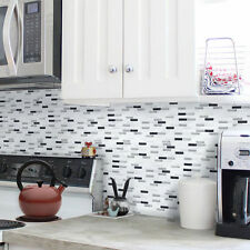 Home Bathroom Kitchen 3D Wall Decor Sticker Gray Peel and Stick Backsplash Tile