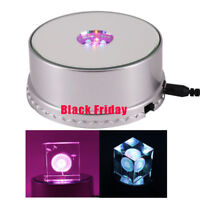 Crystal Display Stand 4inch Base with 7 LED Lighted(BlacK Fridays)
