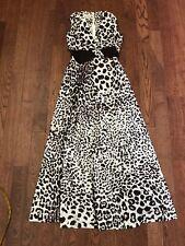 Vintage 70's Leslie Fay Leopard Print Polyester Long Dress - Sz 10