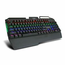 Real Mechanical Keyboard USB Wired RGB Gaming With Backlit LED MX Blue Switches