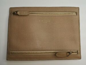 Aspinal of London Beige Deer Leather Multi Currency Wallet Good Used Condition