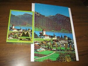 VTG. WARREN PAPER PRODUCTS PICTURE PUZZLE #1250  500 PC CASTLE ON LAKE THUN