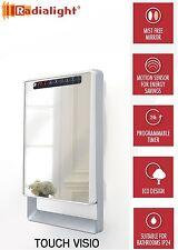 TOUCH VISIO 1800W Digital Programmable Energy Saving Mirror Slim Fan Heater NEW!