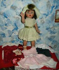 Unique Lot of Vintage Mariquita Perez Doll and 3 Complete Outfits *ALL BRAND NEW