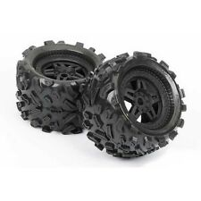 "Pro-Line Big Joe 3.8"" 40-Series Tires & Tech 5 Black Wheels Revo Savage 1103-13"
