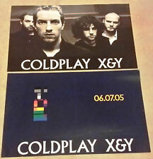 COLDPLAY DOUBLE SIDED PROMO POSTER FLAT X&Y 2005 CHRIS MARTIN FIX YOU