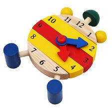 Education Mini Puzzle Clock Montessori Wooden Puzzles Toys Oyuncak Kids Digital