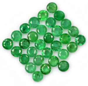 Emerald Loose Gemstone Emerald Gemstone Gemstone For Jewelry # C 170 Natural Emerald Faceted Round Shape Gemstone 8mm