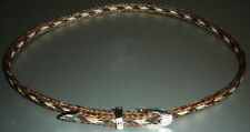 Western Cowboy/Cowgirl HAT BAND Black/White/Brown Horsehair Buckle