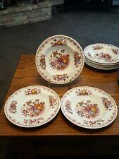 Mason's Fruit Basket - Red Multicolor - 3 Rimmed / Rim Soup Bowls (#3)