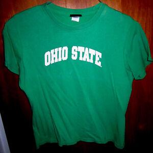 OHIO STATE youth medium T shirt green Buckeyes girls tee OSU pink highlights
