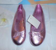JC Penney Girls Metallic Slip On Ballerine Style Shoes Pink Five (5) NWT