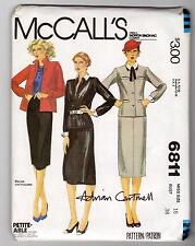 70s Vintage McCall's Pattern 6811 Adrian Cartmell  Classic Jacket  Skirt Sz 16