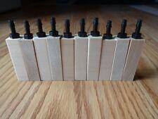 """10  pack wooden air diffuser wood airstone air aquarium  2"""" x 1/2""""  limewood"""
