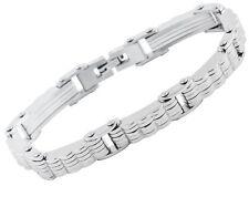 Armband Gliederarmband Edelstahl Silberfarben 21cm lang von AKZENT