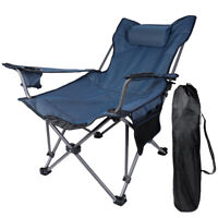 Portable Folding Picnic Chair Beach Camping Collapsible Outdoor Seats Recliners
