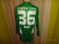 SpVgg Greuther Fürth Jako Langarm Matchworn Trikot 2009/10 + Nr.36 Klaus Gr.S- M