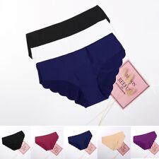 bd95818b66 3 Pack Women Seamless Soft Ultra Thin Briefs Panties Hipster Underwear  Lingerie
