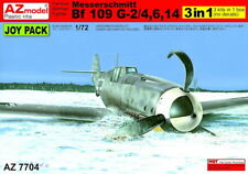 AZ Model 1/72 Bf-109 G-2/4, 6, 14 Joy Pack (3 kits en 1 boîte) NO DECALS # 7704