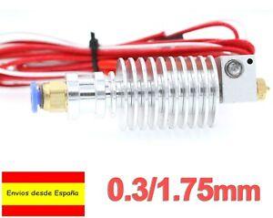 Hotend J Head Extrusor Metal 0.3mm 1,75 E3D Long-Distance Prusa 3D Printer I0087