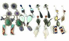 Sterling Silver Multi Stone Variety 12 Dozen Twelve Earrings MIXED LOT