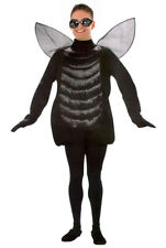 Adult Fly Costume & Bug Glasses Mens Ladies Insect Fancy Dress Halloween NEW
