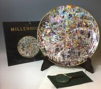THE MILLENIUM TIME TAPESTRY PLATE & BOOK LTD EDITION #916 OF 2000 FITZ & FLOYD