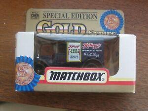 "Matchbox No. 44 Special Edition Gold Series. ""Kellogs Corn Flakes"". Original Box"