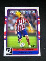 16-17 Panini Donruss Soccer Koke Atletico Madrid Production Line #27 Canvas /49