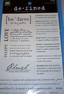 NEW 9 pc BELIEVE  DEFINED Words & Definintions MAKING MEMORIES Stickers