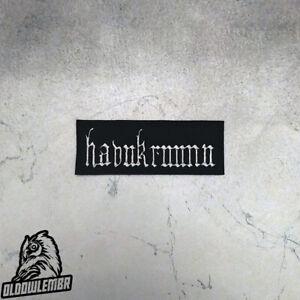 Patch Havukruunu txt Pagan Black Metal band.