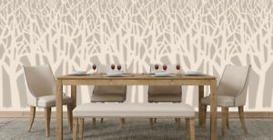 Trees Stencil Pattern Paint Wall Furniture Cardmaking Reusable Art Cratfs TE376
