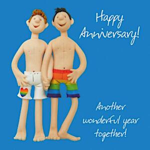 Happy Anniversary Boyfriend Husband Same Sex Gay Blank Card