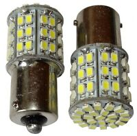 2x Ampoules 24V P21W R10W R5W 64LED SMD blanc pour camion semi-remorque portail