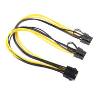 CPU to Graphics Video Card Double PCI-E Power Supply Splitter Cable Cord