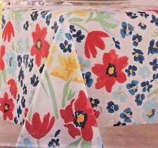 Food Network Market Garden Floral Fabric Tablecloth 60 in. x 84 in. Oblong NEW