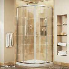 "DREAMLINE ""33 x 33"" x 72"" CORNER ROUND PRIME SHOWER ENCLOSURE AND BASE COMBO"