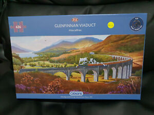 Gibsons G4037 Glenfinnan Viaduct by Mike Jeffries 636 pce jigsaw puzzle